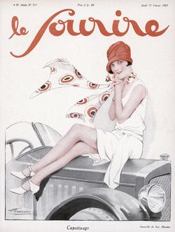 FLAPPER ON BONNET 1927