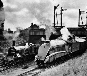 The Flying Scotsman of 1888 and 1938 at Sevenage.