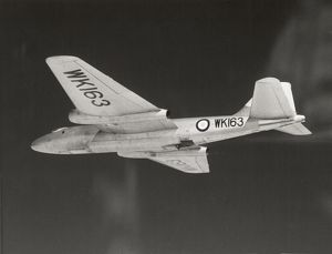Flying testbed B2 Canberra WK163
