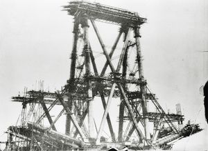 Forth bridge during construction, c.1883