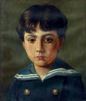 Fortunino Matania as a boy - copy of a portrait by his fathe