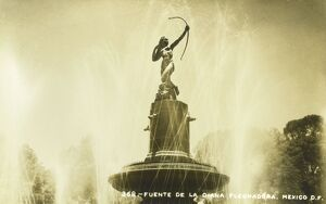 Fountain and statue of Diana - Mexico City
