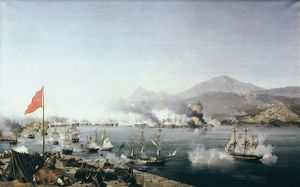 garneray louis 1783 1857 naval battle navarino