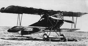 German Fokker D VII fighter plane, WW1