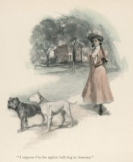 GIRL AND TWO DOGS