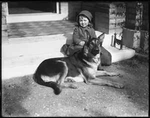 GIRL & GERMAN SHEPHERD