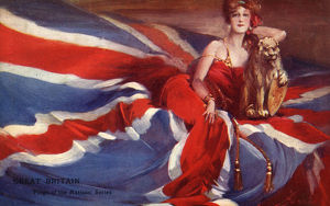 new images grenville collins collection/great britain union flag modern britannia lion