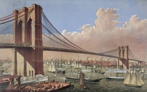 The great East River suspension bridge: connecting the citie