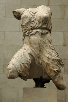 Greece. Athens. Parthenon West Pediment. Figure of Iris. Abo