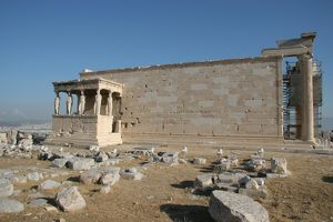 Greek Art. Erechtheion. Acropolis. Athens. Attica. Central