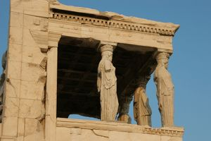 Greek Art. Erechtheion. Porch of the Caryatids. Acropolis