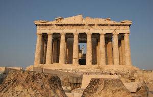 Greek Art. Parthenon (447-438 BC). Acropolis. Athens. Attica