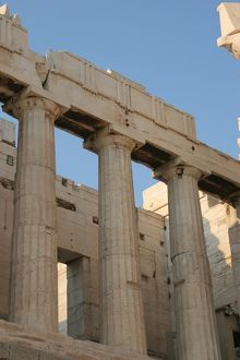 Greek Art. The Propylaea. Acropolis. Athens. Attica. Centra