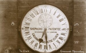Greenwich Observatory, Greenwich, London - Magnetic Clock
