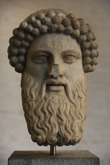 Head of Hermes Propylaios. Roman copy from an greek original