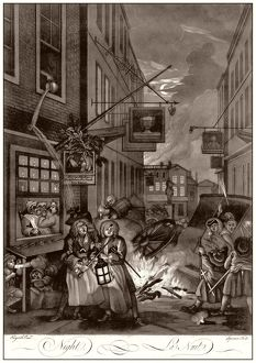 Hogarth, Four Times of the Day, Night