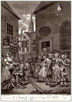 Hogarth, Four Times of the Day, Noon