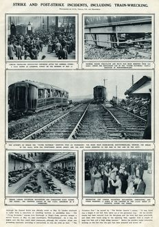 Incidents including train-wrecking: General Strike 1926