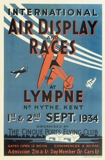 International Air Display and Races Poster