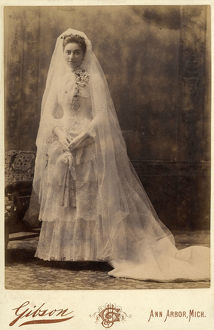 new images grenville collins collection/isabel sewall wedding day studio portrait