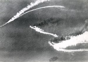 Italian naval action viewed from above, WW1