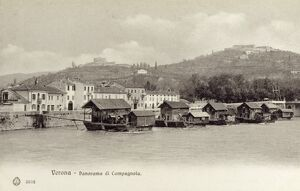 Italy - Verona - River Adige and Countryside