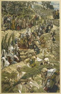 Jesus entering Jerusalem on Palm Sunday