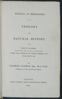 Journal of Researches - title page