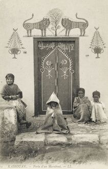 Kairouan, Tunisia - Doorway of a Marabout's home