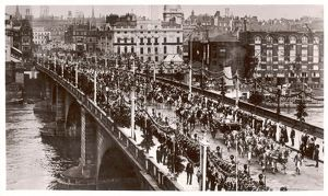 King George V Progress across London Bridge