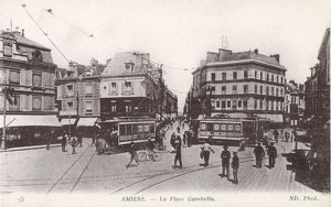 new images grenville collins collection/la place gambetta amiens france