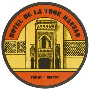 LABEL, HOTEL AT RABAT