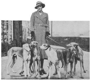 Lady Weymouth with her greyhounds