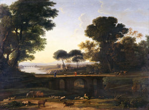 Landscape painting by Claude Lorrain