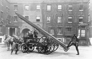 LCC-LFB horse drawn escape cart and ladder