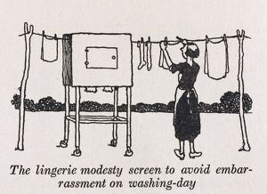 Lingerie modesty screen / W H Robinson