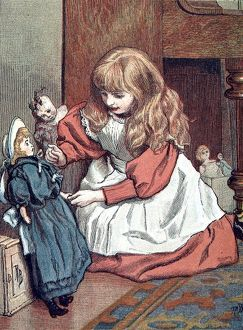 Little Girl playing with her Sailor Doll, 1888.
