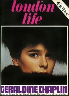 London Life front cover - Geraldine Chaplin at Tonya