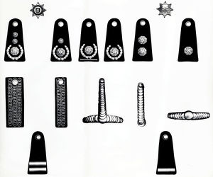 London and Middlesex fire brigade rank markings