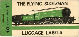 Luggage label design, The Flying Scotsman