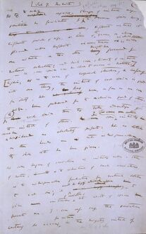 Manuscript page from The Origin of Species