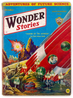 Master of the Asteroid, Wonder Stories Scifi Magazine Cover