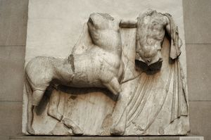 Metope. Parthenon marbles. Battle between the Centaurs and t