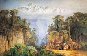 Mount Kanchenjunga from Darjeeling, by Edward Lear