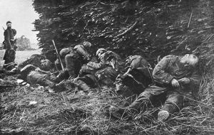 Napping soldiers WWI