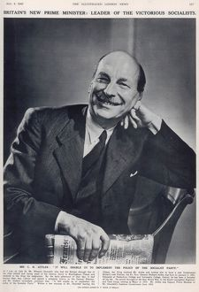 The new Prime Minister, Clement Attlee