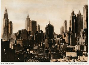 New York skyline 1937