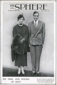 Newly married Duke and Duchess of Kent
