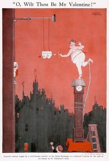 O wilt thou be my Valentine? by W. Heath Robinson