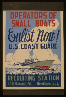 Operators of small boats enlist now! US Coast Guard